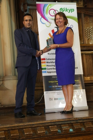 Diversity in Apprenticeships Award - Winner KYP - Zulf Ahmed with Jill Nagy