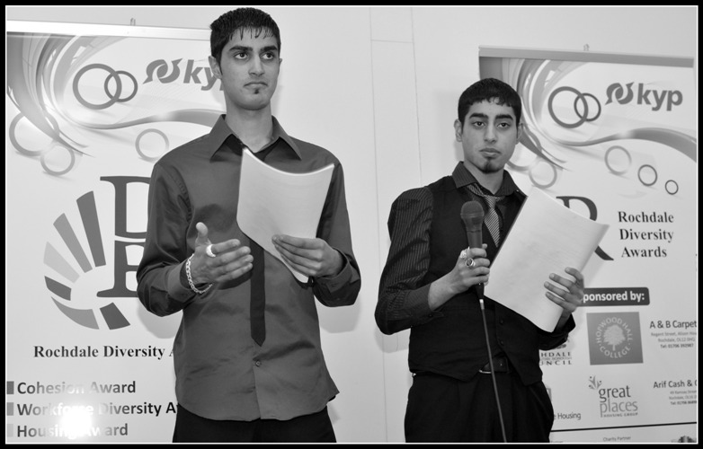 Ibrar and Sohail - the comperes of the Rochdale Diversity Awards ceremony