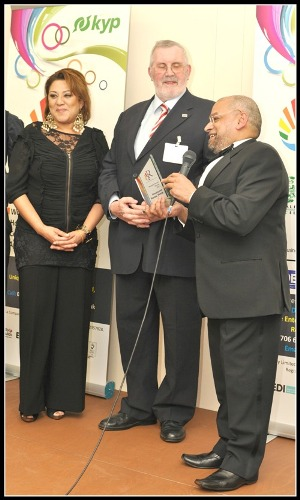 St. Vincent's Housing Association receives the Housing award from Cllr Sultan Ali