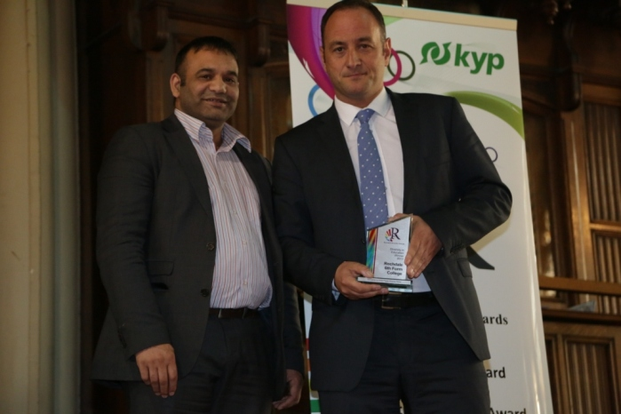 Diversity in Education Award - Winner Rochdale 6th Form College - Principal Julian Appleyard with Shoaib Akhtar