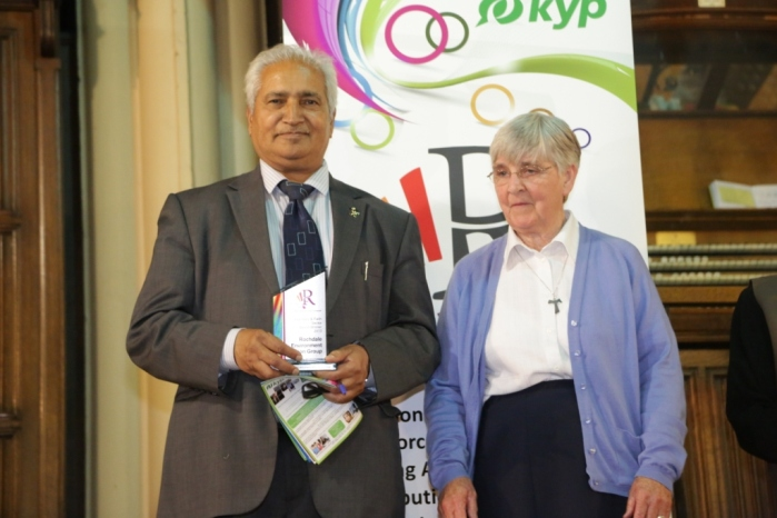 Voluntary & Faith Sector Award - Winner Rochdale Environment Action Group - Ghulam Rasool Shazad and colleague